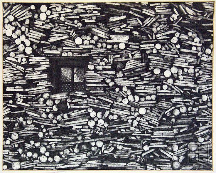 Martin Martinček - okienko v drevenici (1964)