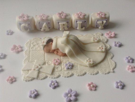 Baby Girl Cake Topper Fondant