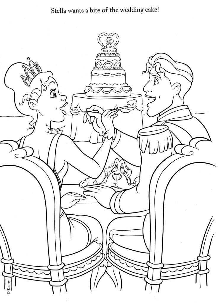 Disney Coloring Pages Wedding
