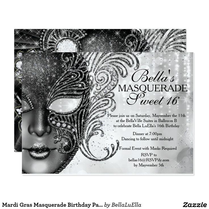 409 best Teens 1317 Birthday Invitations images – Masquerade Birthday Invitations