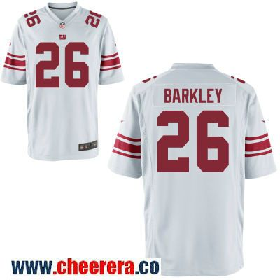 be11f978a2d Men's New York Giants #26 Saquon Barkley White Road Stitched NFL Nike Game  Jersey