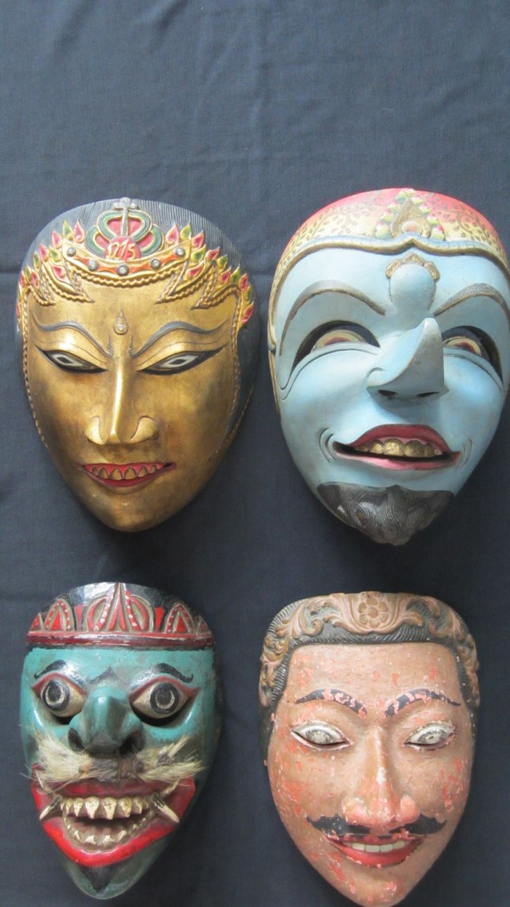 Topeng (Masks) from Indonesia #Topeng www.kulukgallery.com