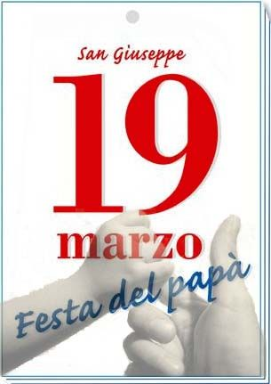 19 March is La Festa del Papa is. This day is dedicated to San Giuseppe and Sint Jozef,one of the most loved in Italy. He is the protector of families, poor people and neglected. This day the daddies will be put in the spotlight.