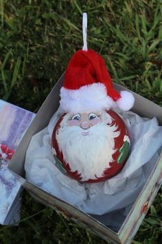 light bulb santa ornament - Google Search