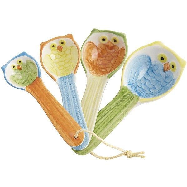 Pier 1 Imports Owl Measuring Spoon Set found on Polyvore