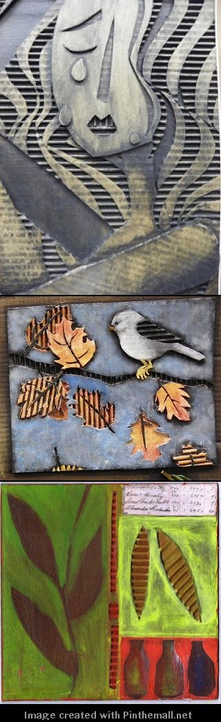 Cardboard relief tiles - created via http://pinthemall.net