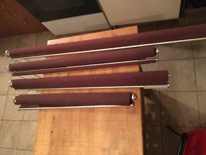 4 rideaux a rouleaux