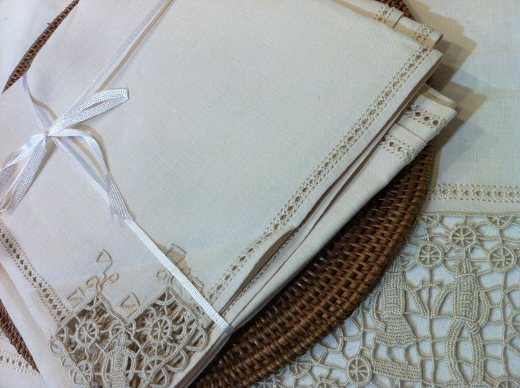 handmade vintage linens from early SFERRA days--a true heirloom