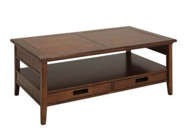 Bridgeport sofabord bord sofa table brown shelf drawer swedish design hansk www.helsetmobler.no