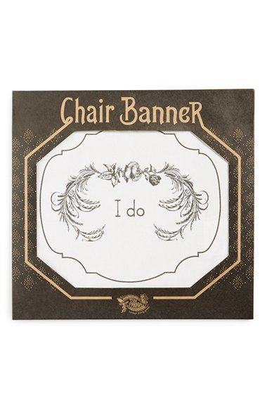 Tin Parade 'I Do' Canvas Chair Banner available at #Nordstrom