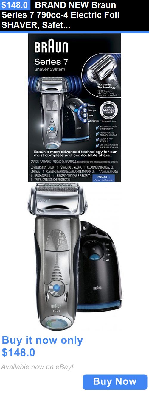 Mens Shavers: Brand New Braun Series 7 790Cc-4 Electric Foil Shaver, Safety Mens Razor, Silver BUY IT NOW ONLY: $148.0