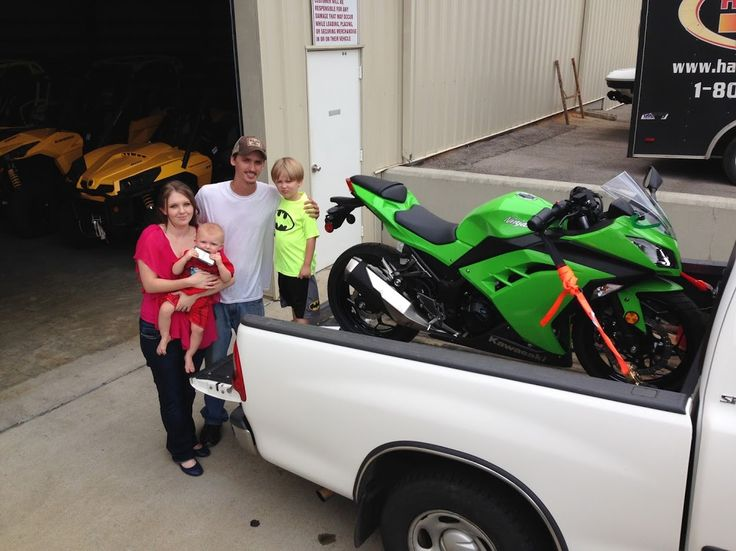 Thanks to Kelli, Isaac, Christopher and Eli Holway from Raleigh MS for getting a 2015 Kawasaki Ninja 300 at Hattiesburg Cycles