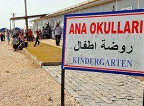 Kindergarden for Syrian refugee children founded by Turkish govt  Şanlıurfa'da Suriyeli çocuklar için ders zili çaldı | Timetürk Haber