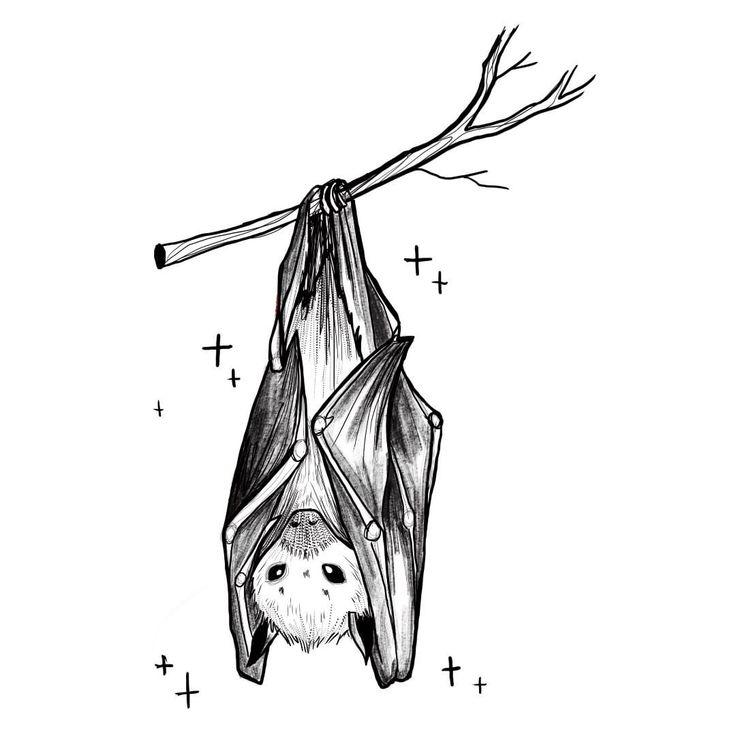 рисунок летучих мышей на дереве вверх ногами салоне