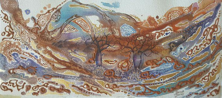 Watercolour by Jeanne Barnes