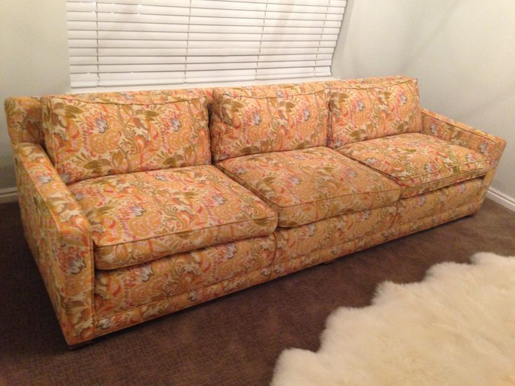 A NEW OLD SOFA: this couch was $40 at an estate sale. Now it's a high quality, newly transformed piece that is an heirloom! See how it came to be on withHEART.com