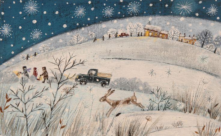Lucy Grossmith ~ Snowy Night | Heart To Art