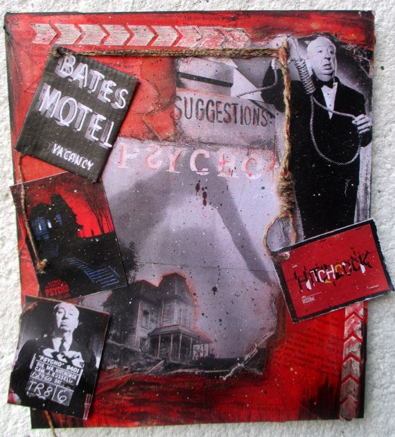 FREE SHIPPING Mix media painting: Psycho by LettersFromHelen