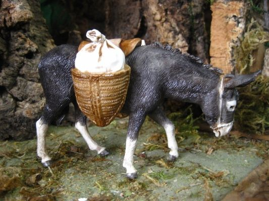 "Mula 602-13cm Animal Figurine for 5"" Nativity Sets. Made in Italy by Landi."