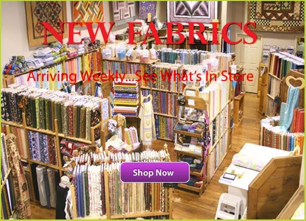 The Quilt Store.  Newmarket, Ontario.  Fabric by the meter.  Free quilting patterns. Accessories.  Good sale section.