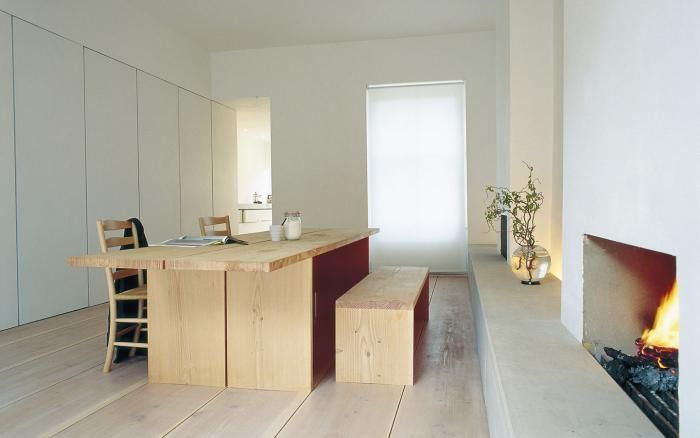 World's Most Beautiful Wood Floors : John Pawson's dining room in London features Dinesen Douglas fir floors.