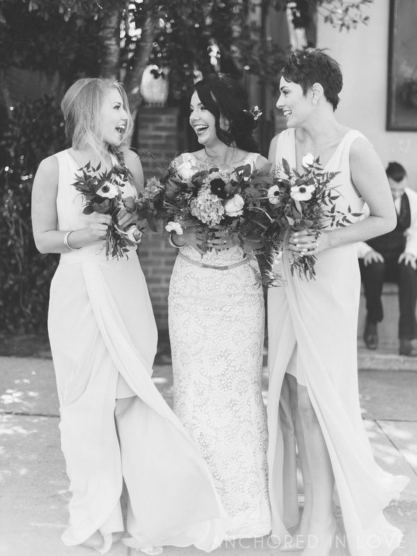 The Perfect Black & White Pic With The Bridesmaids Event Blog - Knot Too Shabby Events Wilmington, NC Wedding & Event Coordination - Knot Too Shabby Events Wilmington, NC Event Planning & Wedding Coordination