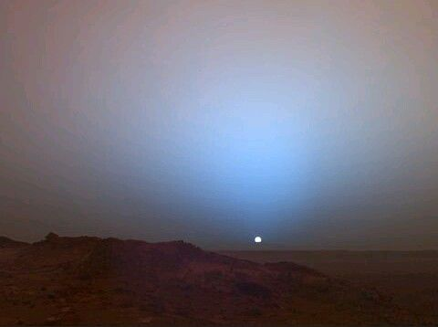 Sunset on Mars. Photo by the Mars Rover Spirit | Out Of ...