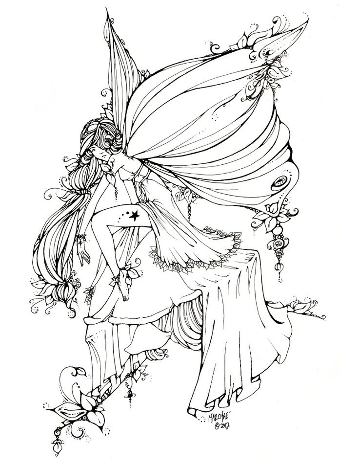 fairy coloring pages adult arte color pesquisa do google more