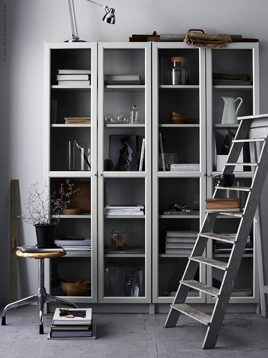From interior blog Trendenser - Billy bok shelf / IKEA