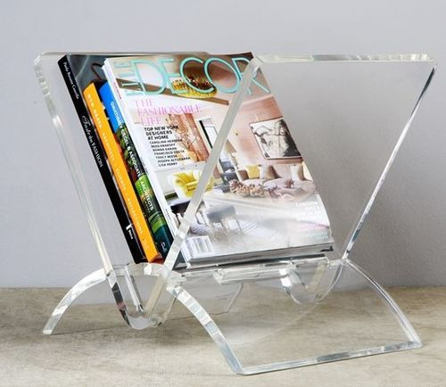 22 best gracious home favs images on pinterest acrylic for Trendy magazine rack
