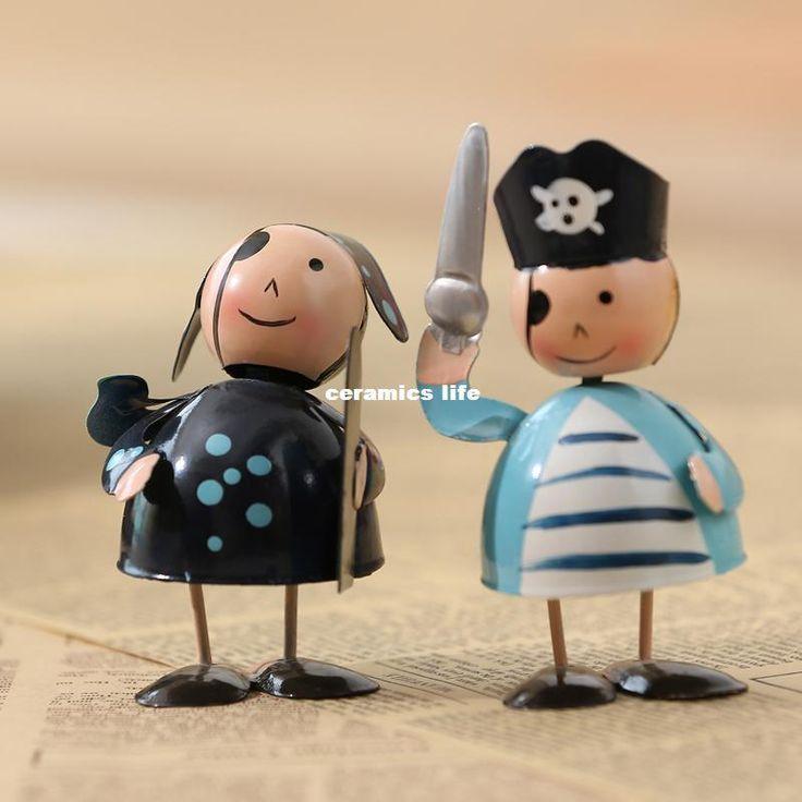 Новая Мода Творческий Кованого Железа Мебель Ручной Росписью Маленький Пират Мультфильма Куклы
