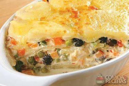 Receita de Batata gratinada à grega em receitas de legumes e verduras, veja essa e outras receitas aqui!