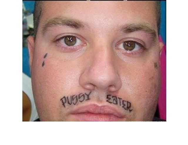 39 Tragically Bad Face Tattoos...I Can't Look Away.
