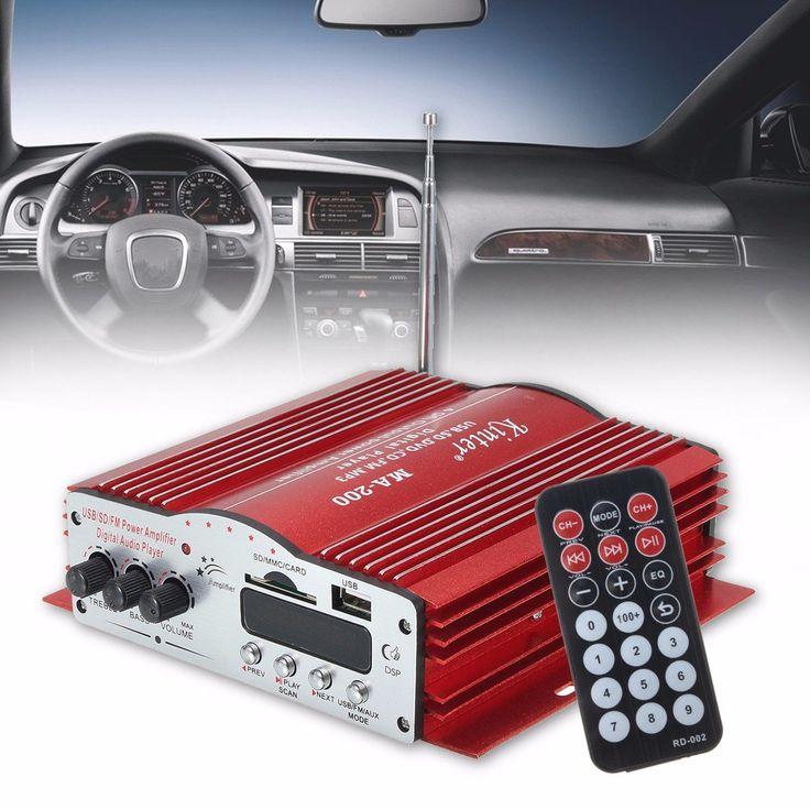 Kinter MA200 4 Channel HiFi Audio Stereo Amplifier Subwoofer Car MP3 Speaker USB SD FM Sale - Banggood.com