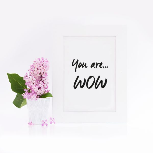 Postkarten - Postkarte / You are wow - ein Designerstück von Eulenschnitt bei DaWanda