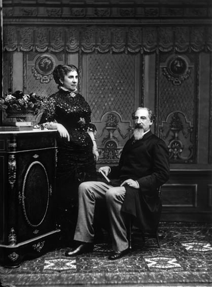 King Fernando II (1816-1885) with his second wife Elise Hensler, countess de Edla (1836-1929)