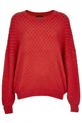 Knitted Quilted Jumper - Knitwear  - Clothing - Topshop - £38.00  LOVE!! ❤️❤️❤️