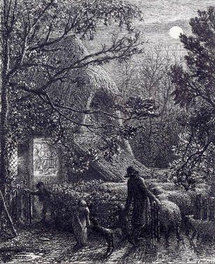 "Samuel Palmer (British, 1805-1881) ""Christmas"", from Bampfylde's Sonnet, 1850 etching, state IV/V 12"