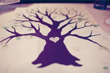 Thumbprint family tree.: Guest Books, Thumb Prints, Wedding Ideas, Weareyourphotogscom Reading, Families Trees, Guestbook, Wedding Trees, Leaves, Adoption Parties