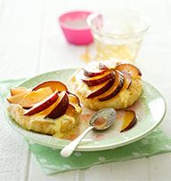 Plum and custard cream tartlets