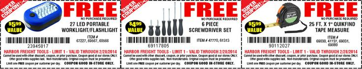 25% OFF at Harbor Freight Tools