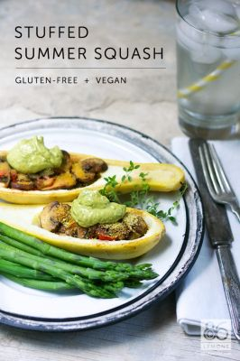 Stuffed Summer Squash (vegan, gf). To view this recipe, click view printable recipe at the bottom of the post.
