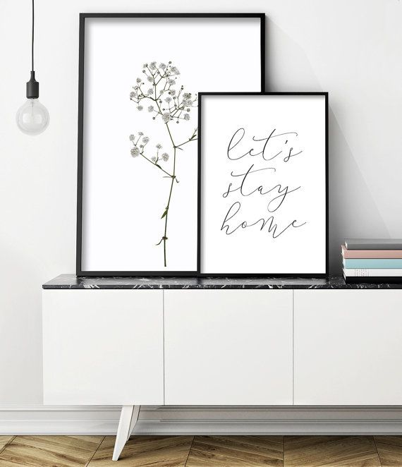 Scandinavian Interior | Sideboard Styling | Credenza Styling | Living Room Art | Black and White Prints | Home Decor | Interior Styling Inspiration. Printable Art by Little Ink Empire on Etsy