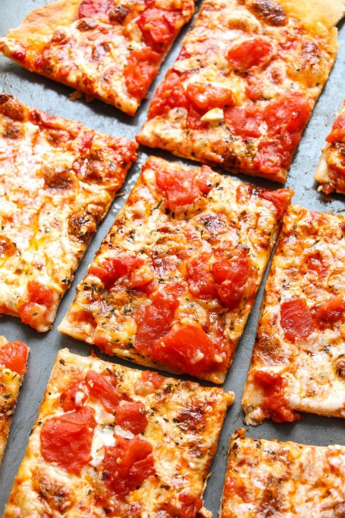 A thin and cracker-crispy crusted pizza smothered with pizza sauce and topped with melty cheese – easy to make at home. None of the artificial stuff! This pizzatastes better than the original too. (No-yeast, no-rise,comes together in less than 30 minutes!)  Let's take a quick break from the miserable weatherand talk pizza. Easy, quick, …