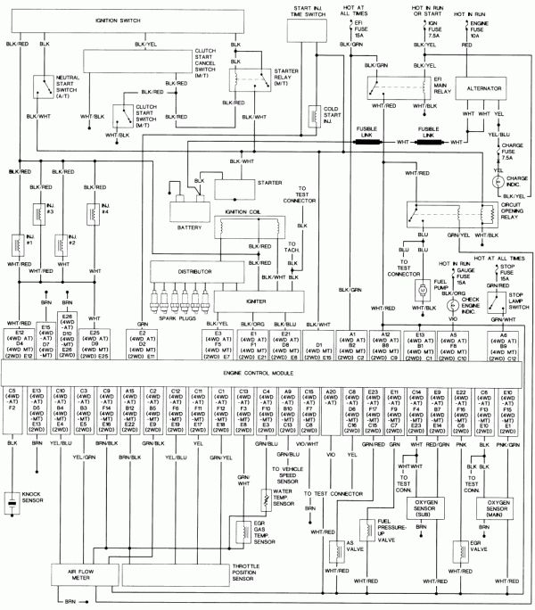1991 Toyota Wiring Diagram Wiring Diagrams Recover Recover Chatteriedelavalleedufelin Fr
