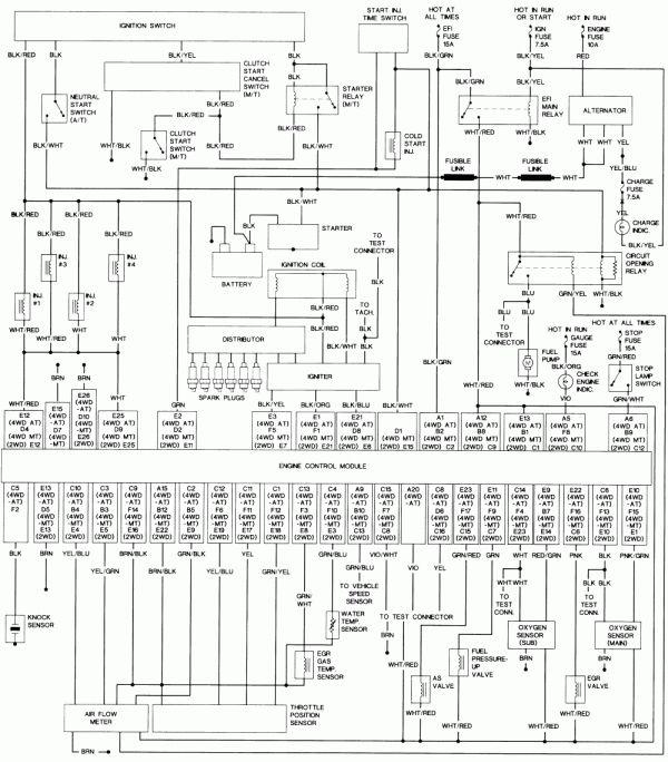 18 1991 Toyota Truck Wiring Diagram Truck Diagram Wiringg Net In 2020 Electrical Wiring Diagram Electrical Diagram Repair Guide