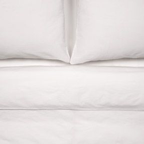 MUJI Soft Washed Optical White Bed Linen - $100 for a cover & sheet