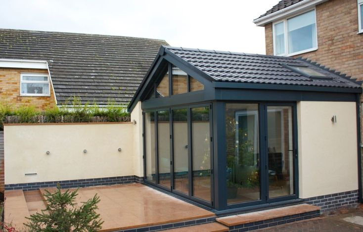contemporary garden room bifold doors