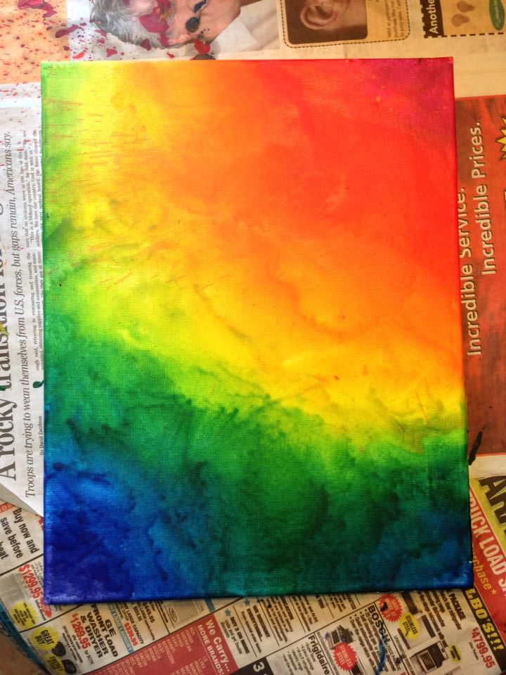 Melted Crayon Art take 2