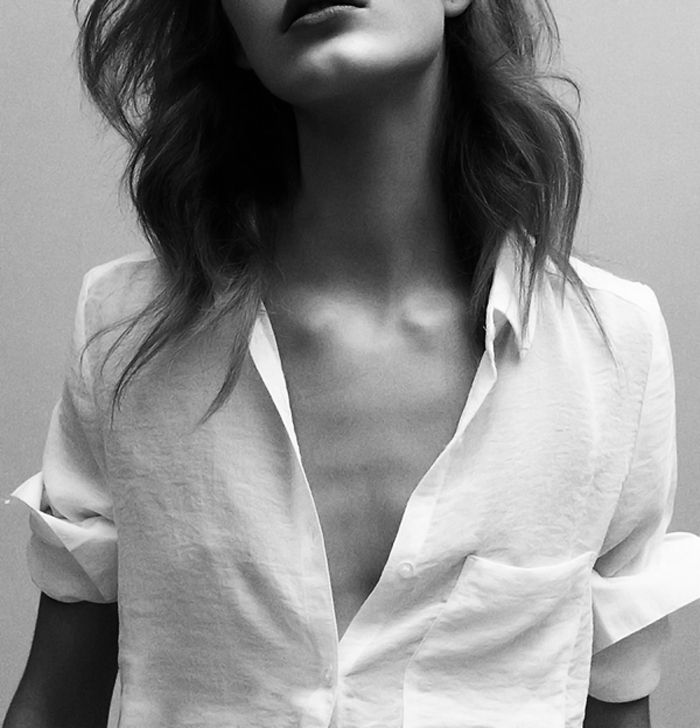 white cotton shirt
